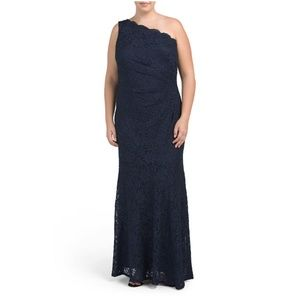NWT Decode 1.8 Lace One Shoulder Gown 22